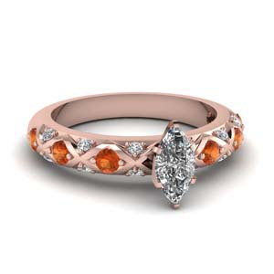 Cross Design Marquise Shaped Ring