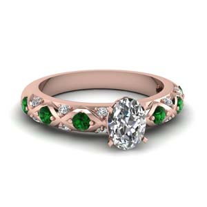 Emerald Gemstone Engagement Ring