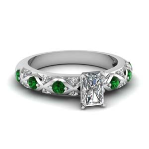 Pave Set Radiant Platinum Ring