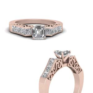 Channel Set Vintage Diamond Ring