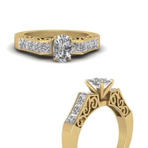 Anniversary Rings With Filigree