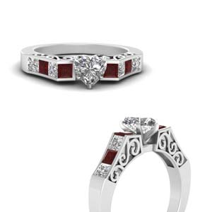 Antique Channel Set Ruby Ring