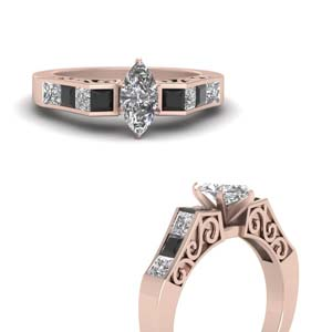 Channel Set Filigree Ring