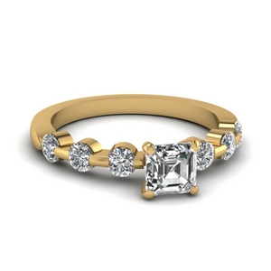 Floating Bar Diamond Ring