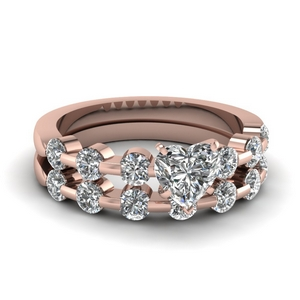 Bezel Diamond Ring Set