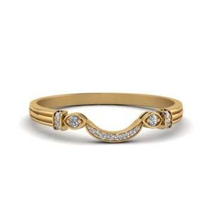 Antique Custom Curved Diamond Band