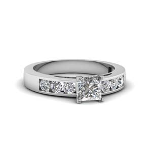 Channel Set Moissanite Ring