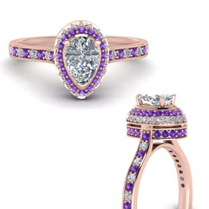 teardrop under halo high set diamond engagement ring with violet topaz in FDENS1692PERGVITOANGLE3 NL RG.jpg