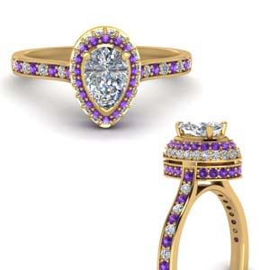 teardrop under halo high set diamond engagement ring with violet topaz in FDENS1692PERGVITOANGLE3 NL YG.jpg