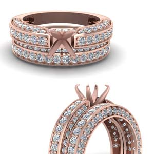 Diamond Wedding Set Semi Mount