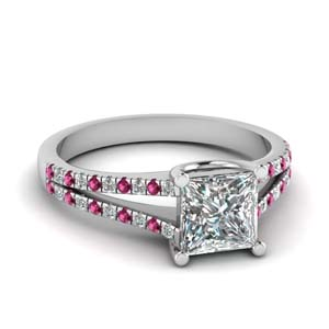 Princess Cut Accent Ring