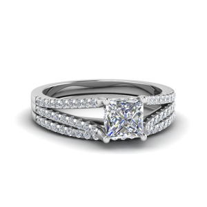 Diamond Split Band Ring Set
