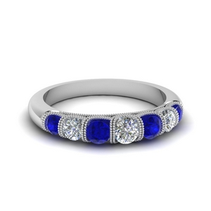 Vintage Sapphire 7 Stone Band