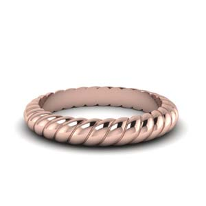 14K Rose Gold Rope Wedding Band