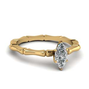Marquise Shaped Solitaire Rings