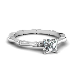 1 Carat Princess Cut Solitaire Ring