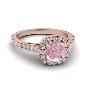 Floating Halo 18K Rose Gold Ring