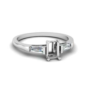 Baguette Diamond Engagement Ring Setting