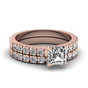 Asscher Cut Wedding Ring Set