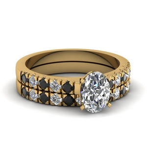 18K Yellow Gold Ring Set