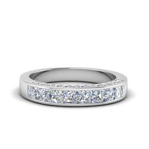 Channel And Pave Diamond Band