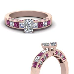 Radiant Cut Accent Diamond Ring