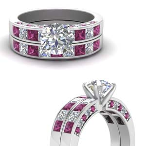 Platinum Round Diamond Set