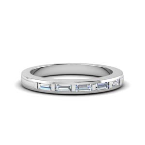 Bar Baguette Diamond Band