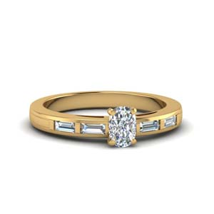 Baguette Bar Moissanite Ring