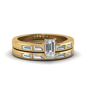 Emerald Cut Bridal Ring Sets