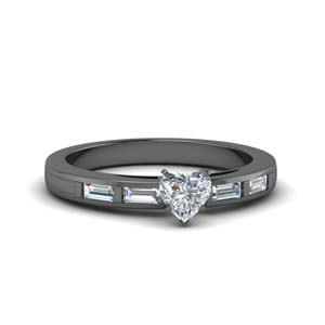 Baguette Bar Wedding Ring