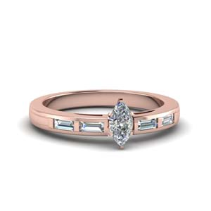 Bar Baguette Diamond Ring