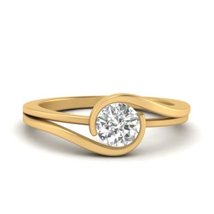 Round Cut Solitaire Lab Diamond Rings