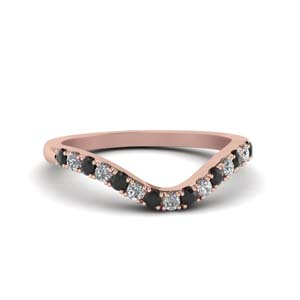 Curved Black Diamond Band