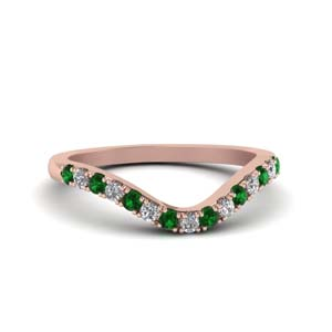Delicate Emerald Band