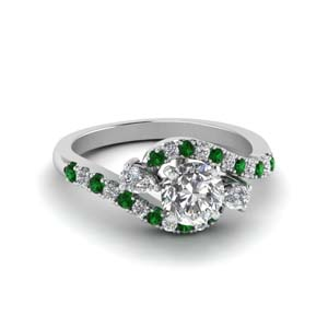 Simple Emerald Engagement Ring