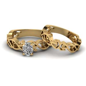 Yellow Gold Bridal Set