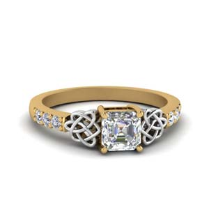 Gold 2 Tone Diamond Ring