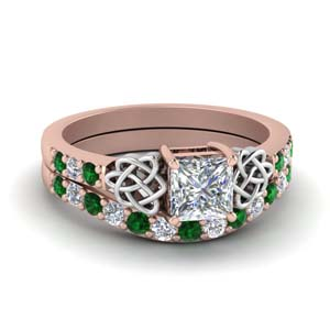 2 Tone Celtic Wedding Ring Set