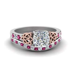Channel Set Pink Sapphire Set