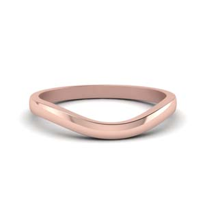 plain curved wedding band in 14K rose gold FDENS2255B3 NL RG