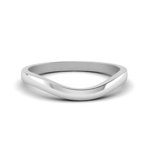 Plain Curved Wedding Band