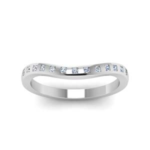 Flush Curved Diamond Band