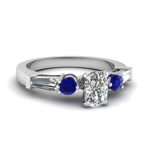 5 Stone Ring With Sapphire