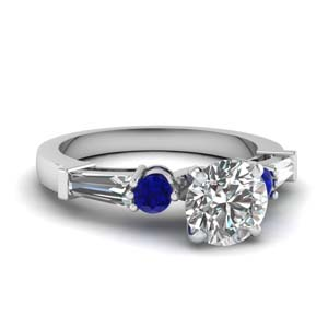 Tapered Baguette Sapphire Ring