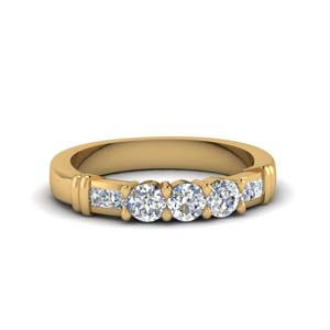 Round Channel Diamond Band