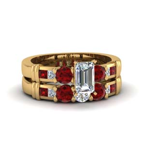 Ruby Channel Wedding Set
