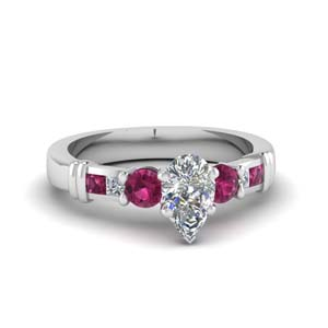 Simple Pink Sapphire Ring