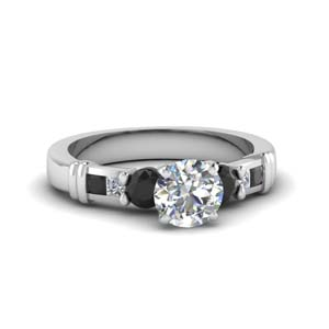Side Stone Engagement Ring