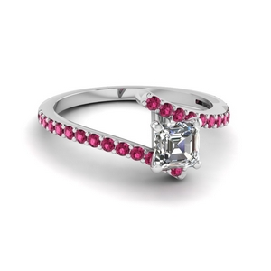 Pink Sapphire Bypass Ring